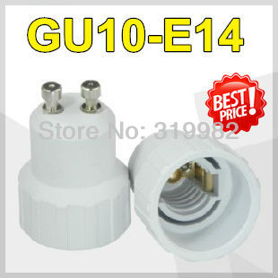 20pcs/lot, accept mix order, GU10-E14 Lamp Holder Converter, GU10 to E14 led lamp socket adapter, LED lamp converter, freeship(China (Mainland))