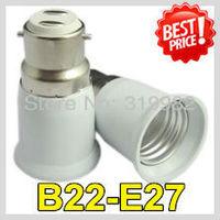 20pcs/lot, accept mix order, B22-E27 Lamp Holder Converter, B22 to E27 lamp socket adapter, B22 led lamp socket, freeshipping