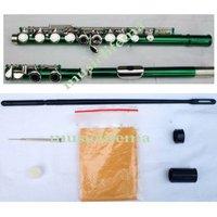 16 holes green flute opened beautiful shape fine tone