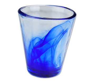 BRAND NEW Wood blue glass cup beverage cup juice cup glass cup FREE SHOPPING
