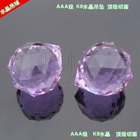 Crystal lobbing 40mm crystal ball lighting bead pendant aaa color