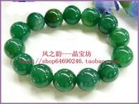 Natural green agate bead dragon bracelet men's bracelet