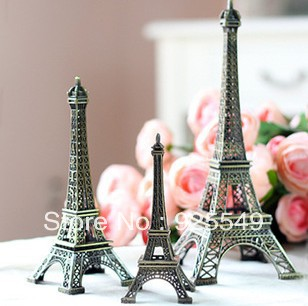 Min Order$10 Free Shipping high 8/13/15/18cm metal craft arts 3D Eiffel Tower model  france souvenir paris home decoration gift