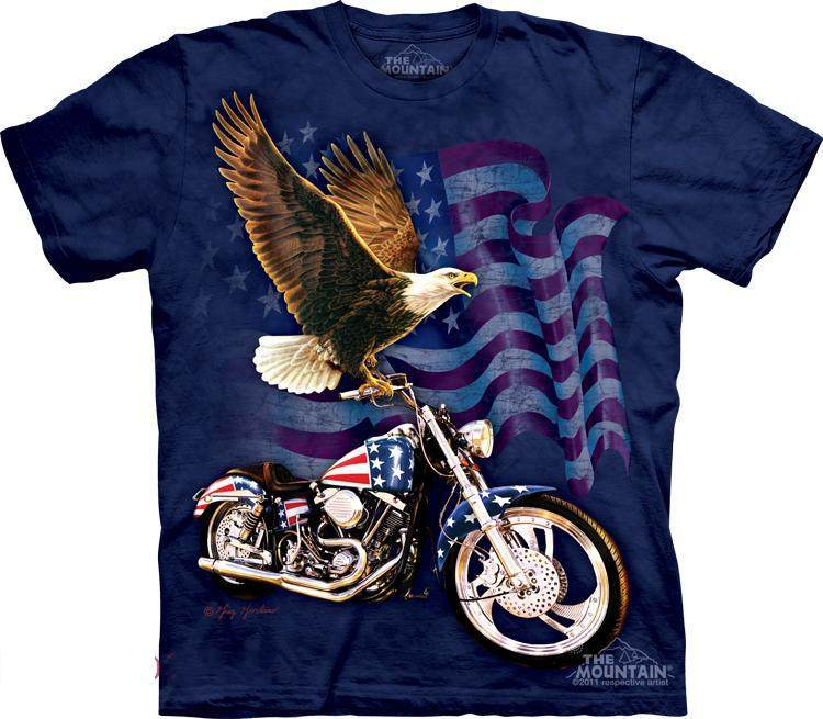 Novelty American flag, eagle the mountain 3d t-shirt short sleeve 2013 men/women summer clothes tops tees shirt(China (Mainland))