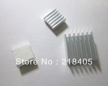 Free Shipping 6pcs=2kits Raspberry PI pure aluminum heat sink heatsink set kit wholesale