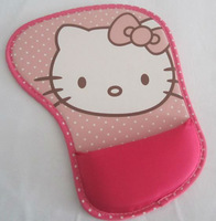 New Cute Girl's Kid's Women's Peach Hello Kitty Foot Shape Mousepads Wrist Rest Fabric Pads Computer Accessories Mouse Mats