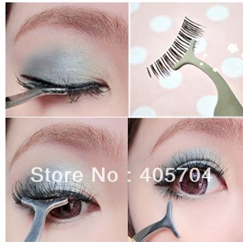 False Fake Eyelashes clip stainless steel Eye Lash eyelash curler Applicator Beauty Makeup ,free shipping(China (Mainland))