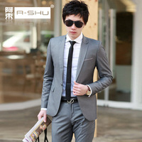 Suits groom suit male commercial slim twinset married suit