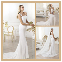 New Listing One-Shoulder Chiffon Dress the Wedding Robe Princesse Free Shipping