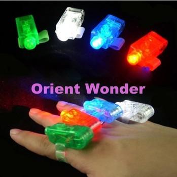 Freeshipping,100 pcs/lot LED Finger Light wedding party KTV supplies celebration ToysHalloween Light Cristmas Festival Gift