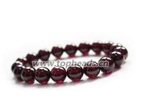 Free shipping! Natural A-grade 9mm Garnet beads, Classic Bracelets, Red Garnet beads Bracelets Adjustable 30Pcs/lot
