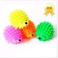 Free custom logo  Pet toy   dog toys  spherical toy   vocalization hedgehogs rubber toy