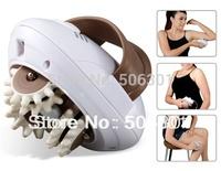 Free shipping + Electronic Fashion Rock  Mini 3D Massage Body Slimmer (White)