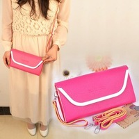 2013 promotion gifts! Forever lady clutches handbag,leather shoulder bags woman bags wallet iphone case free shipping!
