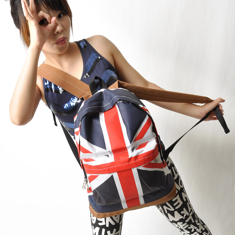 2013 Hot saling Free shipping Fashion american flag casual backpack student school bag backpack l109(China (Mainland))