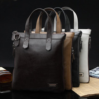 free shipping 2013 bag genuine leather bag men's bag messenger bag casual male shoulder bag first layer of cowhide commercial