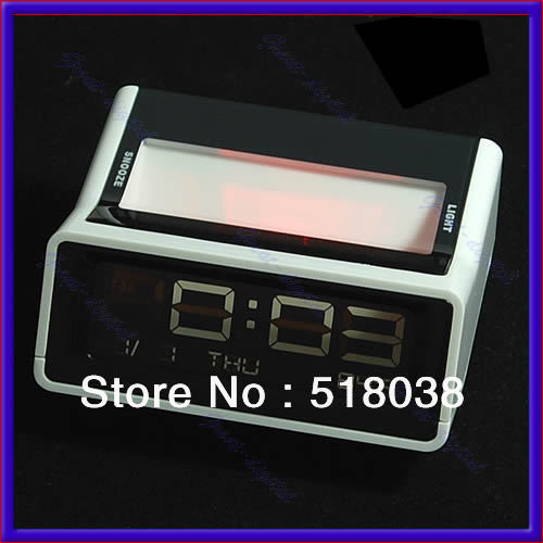 Free Shipping Mini LED Digital Alarm Snooze Timer Clock Thermometer W(China (Mainland))