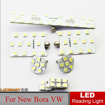 Top Quality Car LED Reading Light Reading Light New Bora VW Volkswagen Auto Interior Full Set LED Dome lamp Interior Lighting