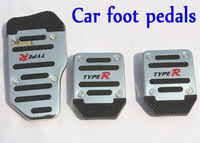 Professional stainless steel car pedals black color plastic manual car non-slip pedals 12-1A1004,Free shipping +Wholesale