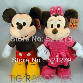 Free shipping 1pair 40cm stuffed Mickey & Minnie mouse Plush toys,Mickey And Minnie plush dolls