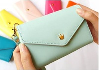 Women's Multi Propose envelope Wallet Purse for Galaxy S2 S3 iphone 4 4S 5 Case,more colors-free Shipping VB213