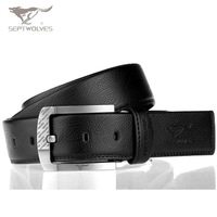 SEPTWOLVES Original genuine leather belt cowhide Alloy buckle pants Accessary belts Real Leather Belt NO:6500