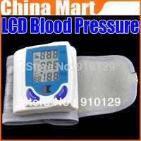 Free Shipping Digital LCD Wrist Blood Pressure Monitor & Heart Beat Rate Pulse Meter Measure