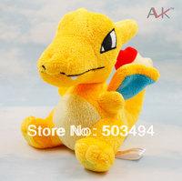 NEW Wholesale Retail Janpanese Anime Pokemon Plush Toys Sale Cartoon 5.5'' Charizard Stuffed Animal Dragon Dolls Free Shipping