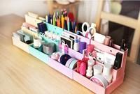 Free Shipping Coffee Cake Motif Desktop DIY Paper Storage Box Cosmetic Box Finishing Organizer Box Retail