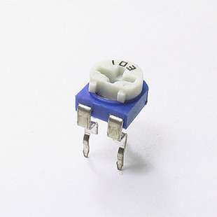 Horizontal 103 10k white adjustable resistor potentiometer(China (Mainland))