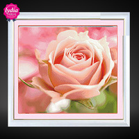 Diy diamond painting lidice lydia powder rose resin square drill