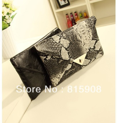 free shipping post 2013 party evening bags handbags D . blac envelope small fashion dinner handbag(China (Mainland))