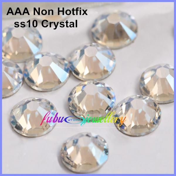 Free Shipping! 1440pcs/Lot, AAA Chinese Top Quality ss10 (2.7-2.9mm) Crystal/Clear Flat Back Nail Art Non Hotfix Rhinestones(China (Mainland))