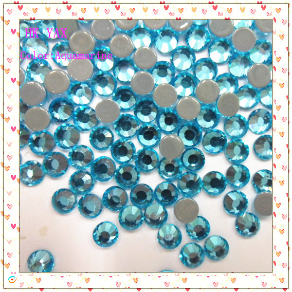 1440 pieces ss6 Aquamarine iron on crystals(China (Mainland))