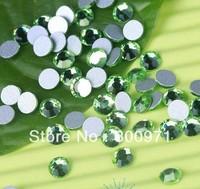 Free shipping 1440pcs 2mm SS6 PERIDOT color flat back rhinestone, Non HotFix Rhinestones for DIY crystal rhinetones