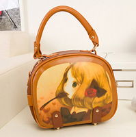 2013 spring and summer women's handbag sweet cartoon handbag messenger bag