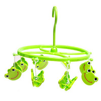 Child hanger japanese style frog underwear socks towel small toy diapers small drying rack