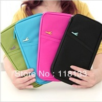 Wholesale - top useful Travel Passport Wallet Document Holder Canvas Organizer Bag Purse 60pcs
