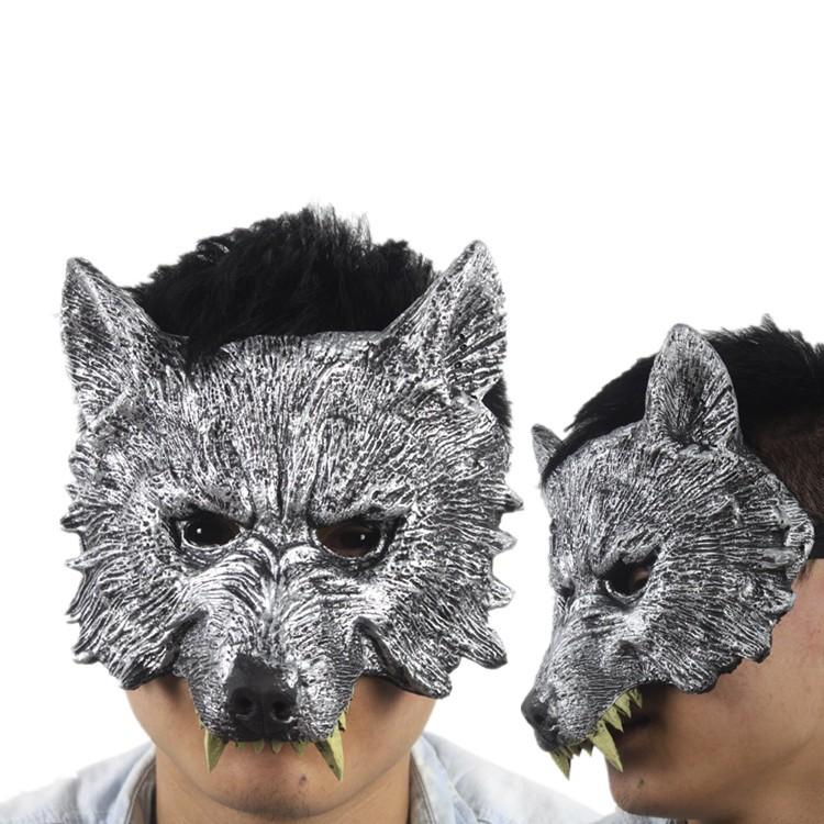 Маска волка из ткани