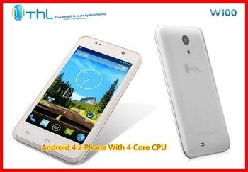 "(In Stock)100% Original New THL W100 4.5"" MTK6589 Quad-core Android 4.2 dual sim dual standby 8.0MP IPS WCDMA  3G Smart Phone"