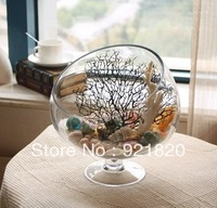 2013 new  Large tank glass vase home decoration vase fish tank high quality fruit plate