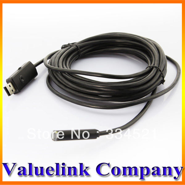 7M USB Waterproof Snake Pipe Cam Endoscope Borescope Inspection Camera Tool Free Shipping TD0026(China (Mainland))