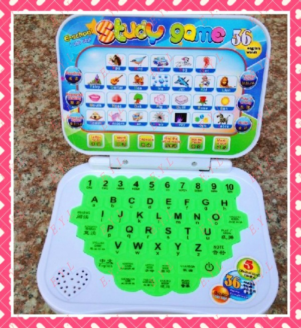 2013 New Children&#39;s Day Gift Educational Toys Enligh Chinese Kid&#39;s Laptop Learning Machine Mini Table Computer Free Shipping(China (Mainland))
