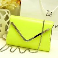 2013 candy color New womens Navy blue leather envelope clutch purse lady evening bag,free shipping