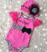Retail good quality NEW arrive baby girl with hat romper good quality  jumpersuit  children clothing  kid`s wear