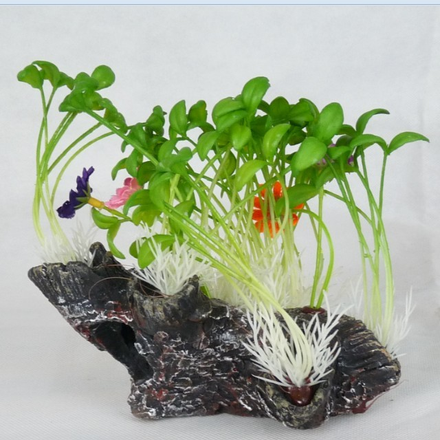 Hot Sale mini aquarium fish tanks decoration ornament plastic plants 16cm free shipping(China (Mainland))