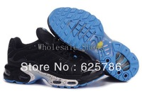 Free Shipping  Plus TN Women's Running Sport Footwear Sneakers Trainers Shoes - Black / White / Blue