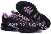 Free Shipping  Plus TN Women's Running Sport Footwear Sneakers Trainers Shoes - Black / Pink