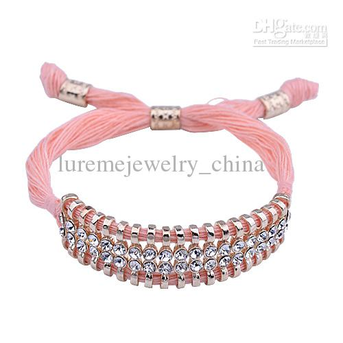 10 pcs With Rhinestone Bracelet mens jewellery pearls rose gold bracelets with the anchor bracelet letter bijoux jewelry buddha(China (Mainland))