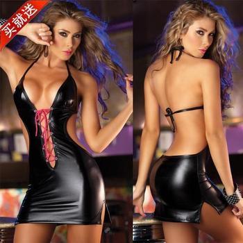Punk dance multicolour black bronzier lacing sexy short skirt 51